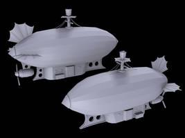 Steampunkish airship by PLing