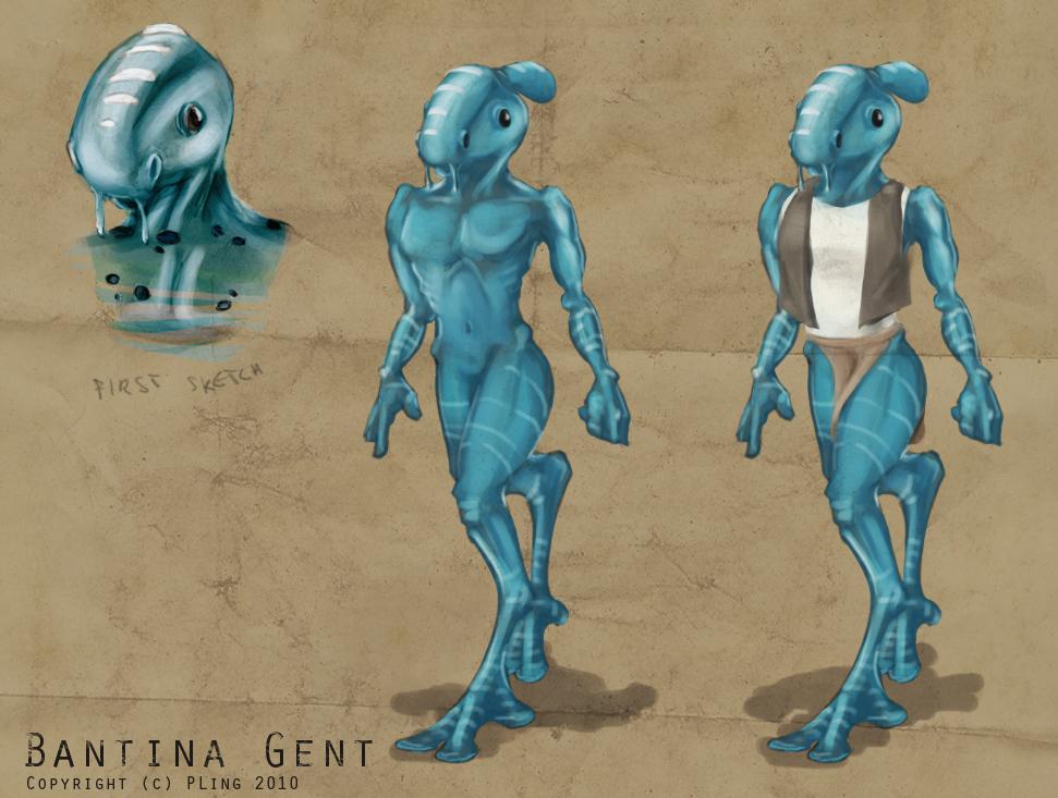 Bantina Gent alien concept by PLing on DeviantArt
