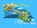 FROG AND DRAGONFLY FUN