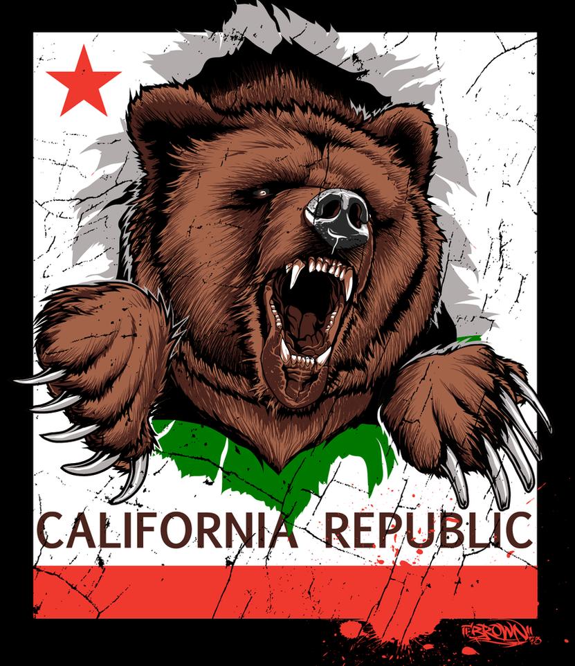 Cali bear by brown73 on deviantart for Designers art of california