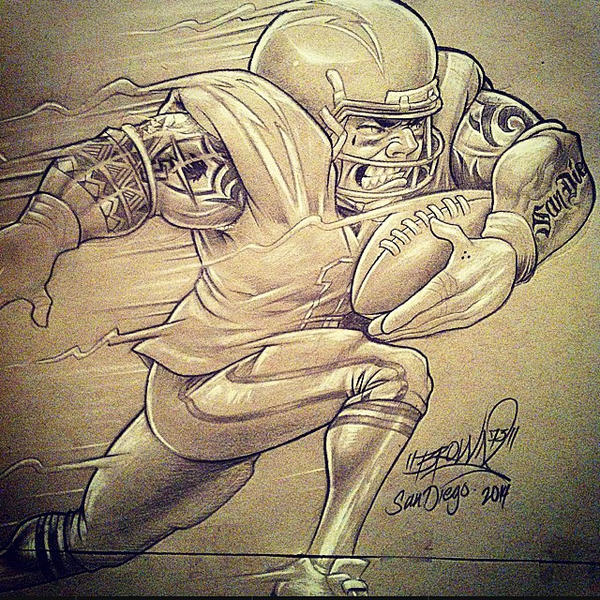 SAN DIEGO CHARGERS SKETCH by BROWN73