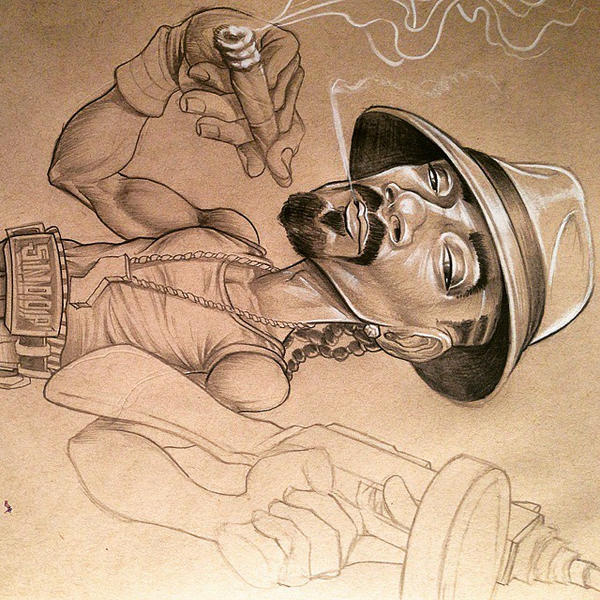 snoop dogg sketch by BROWN73