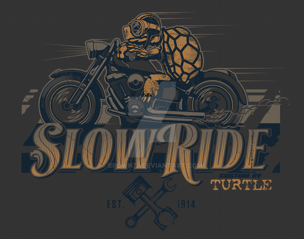 SLOW RIDE TURTLE by BROWN73