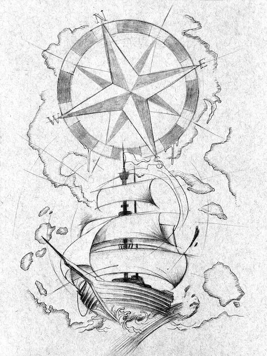 SHIP TATTOO ART by BROWN73