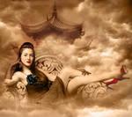 Vintage Geisha by stellartcorsica