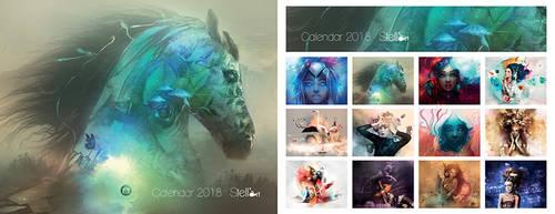 Calendar Stellart 2018 by stellartcorsica