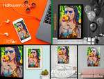 Shop Halloween Pool Party digital or print by stellartcorsica