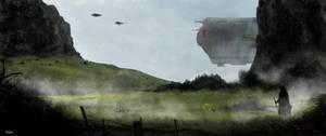 Fantasy landscape by littlewing2