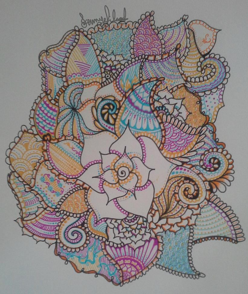 colourful henna design by jenstar99 on deviantart