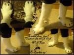 Custom-fit Wolf Feet