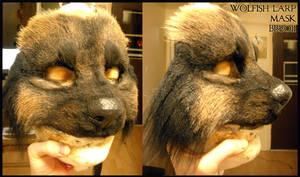 Black wolven mask
