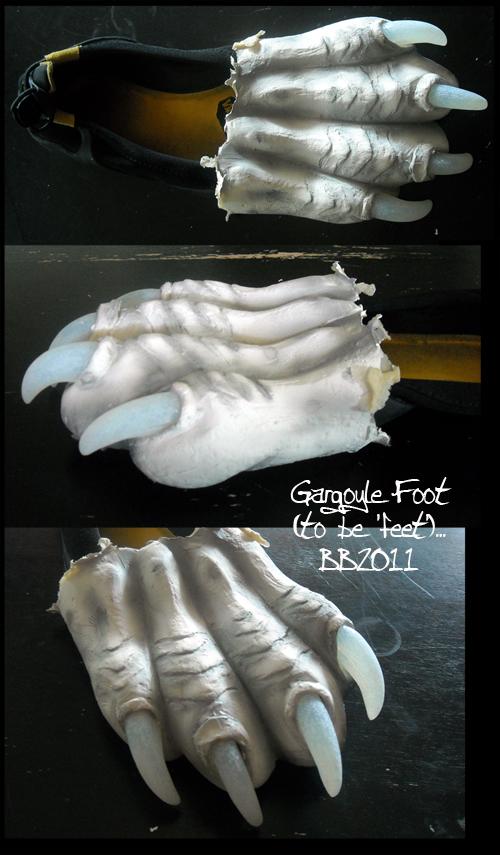 Gargoyle Foot by Magpieb0nes