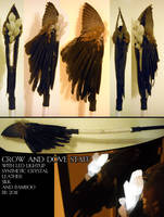 Crow and Dove Staff