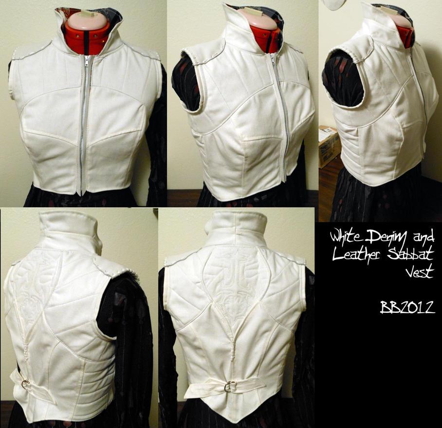 Denim and Leather Sabbat Vest by Magpieb0nes