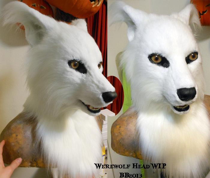 White Werewolf Head SOLD by Magpieb0nes