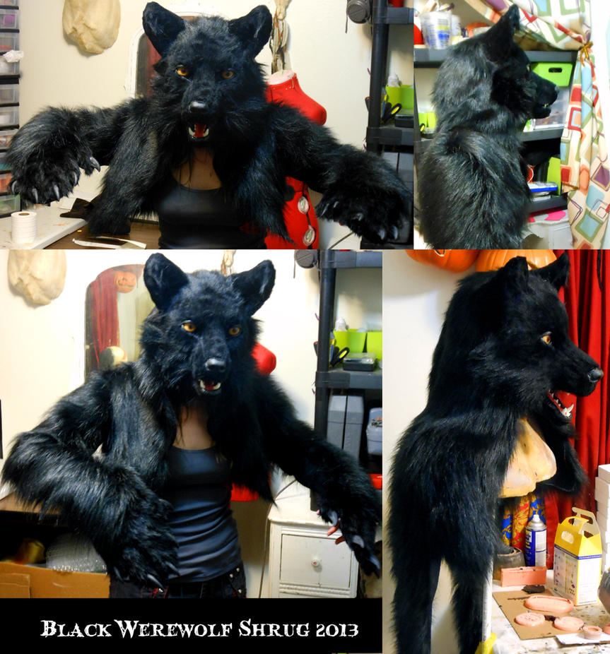 Black Werewolf Shrug and Note on Werewolf Shrugs by Magpieb0nes