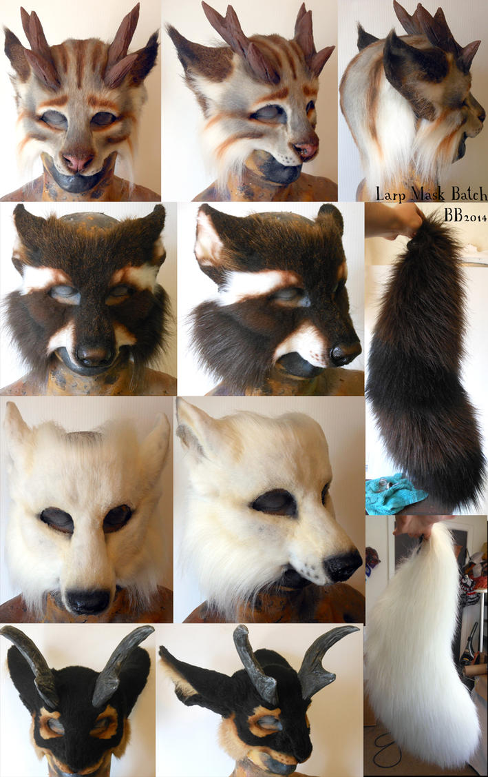 Spring LARP Mask Batch by Magpieb0nes