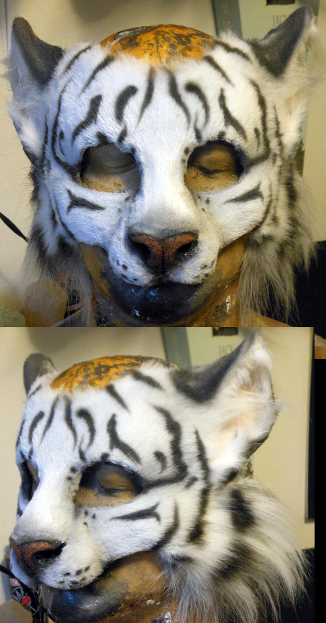 White Tiger LARP Mask by Magpieb0nes