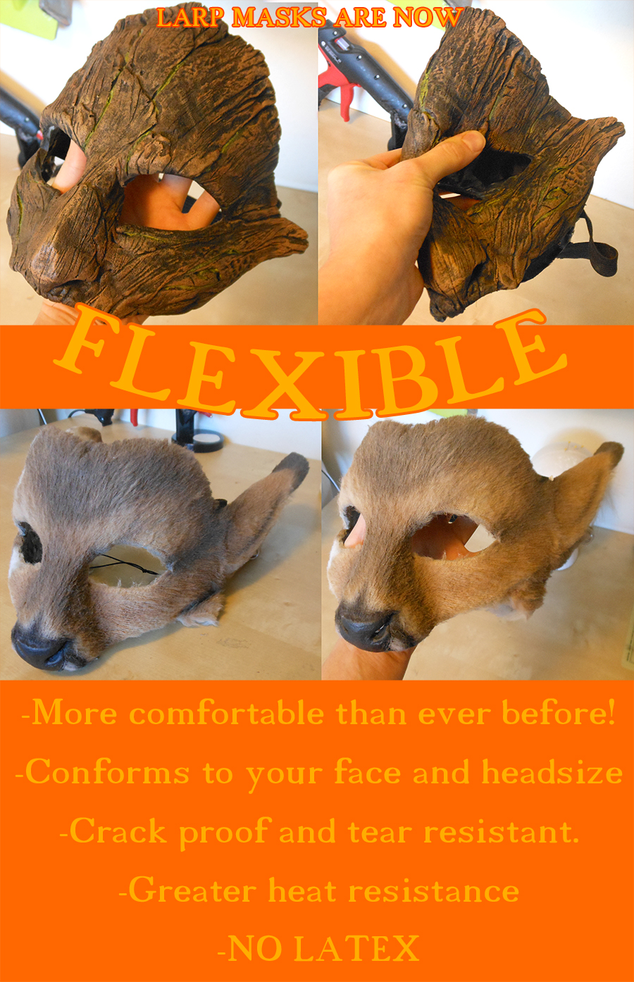 Big news for 2016! FLEXIBLE LARP MASKS