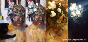 Light up zombie mask