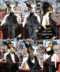 Larp Style Goat headdress by Magpieb0nes