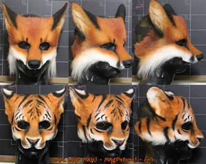 Fox and Tiger LARP Masks