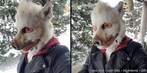 White Boar LARP Mask