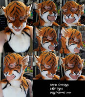 Larp Tiger Mask- modeled