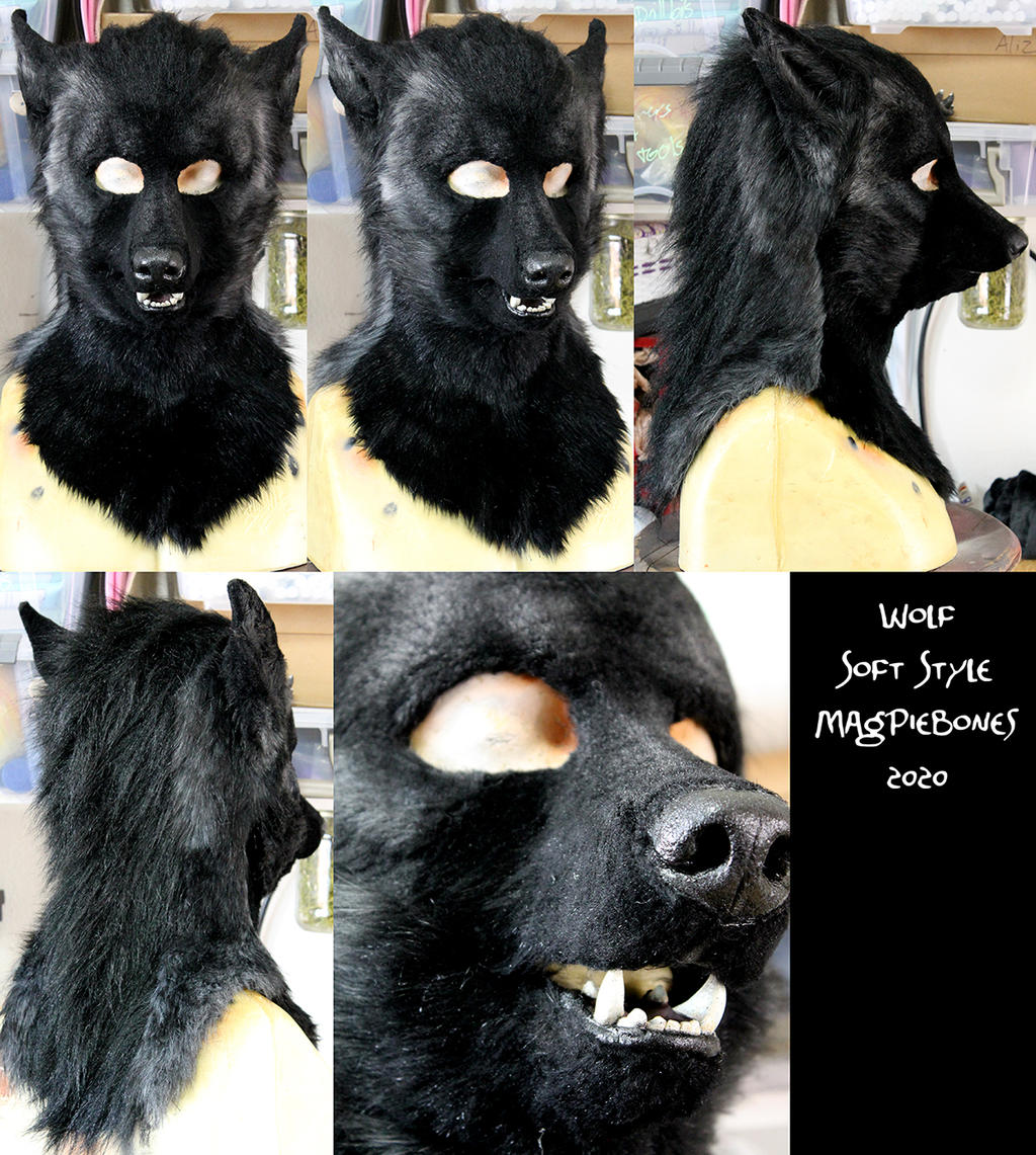 Soft Wolf Head and Tail
