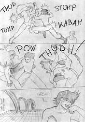260 Goku vs Manas III by YukiOshi