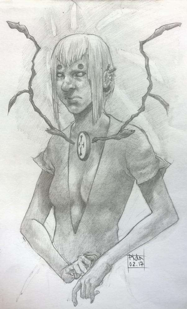 Witch Sketch by Pinadtsu