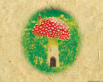 Wallpaper - Mushroom House