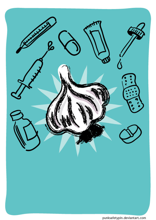 Unfinished Garlic Poster 1 by punksafetypin