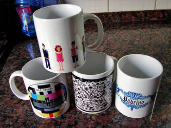Mugs by punksafetypin