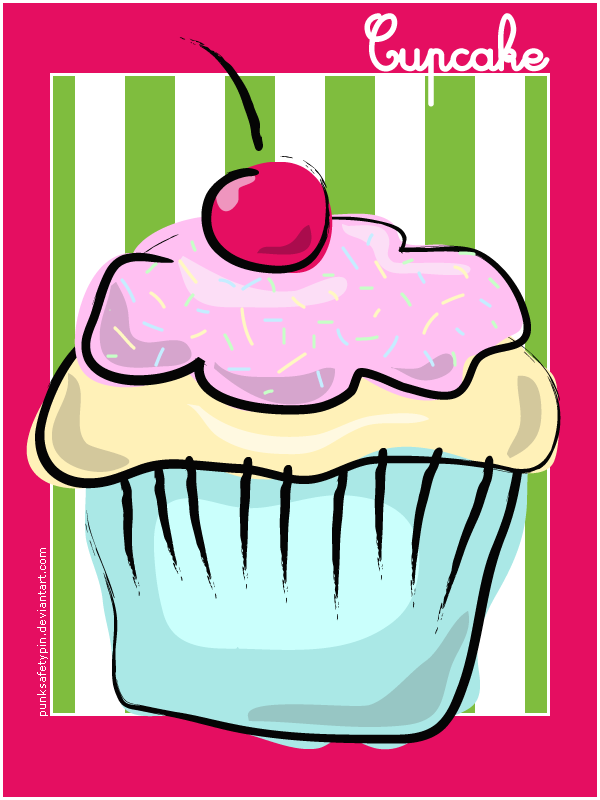 Cupcake Vector Art : Vector Cupcake by punksafetypin on DeviantArt
