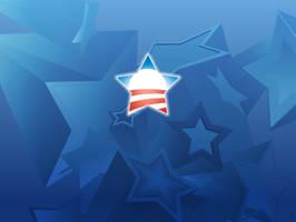 Obama Stars Wallpaper by TwisterMc