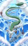 Haku-Spirited Away Fan art by LunarEstrella