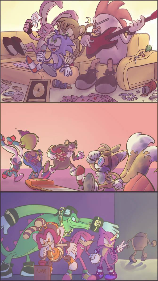 Sonic AU - No Team Heroes