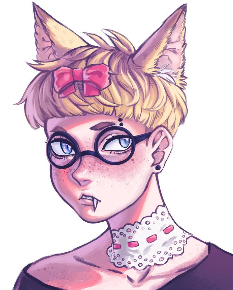 just a kitty landon by VocaloidMist
