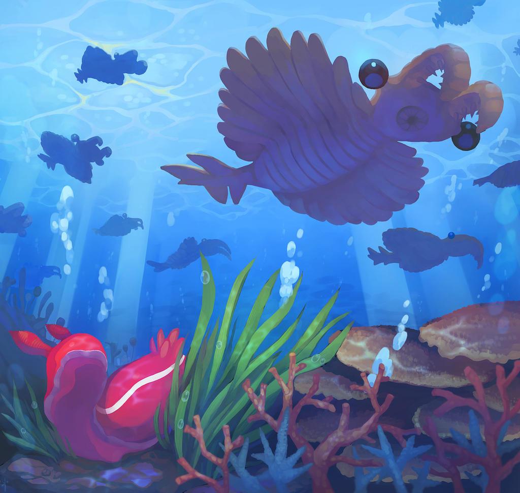 Sea slug and Anomalocaris