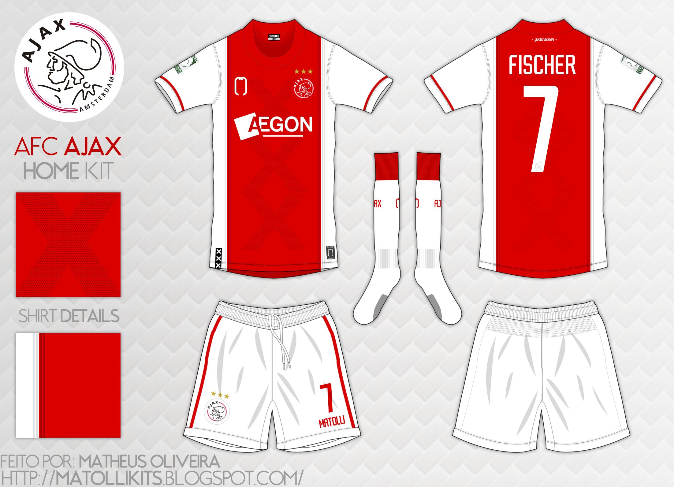Campeonato de Mockups Camisetas de Futebol  54º Campeonato- AJAX ... 4bf934b4e3e5a