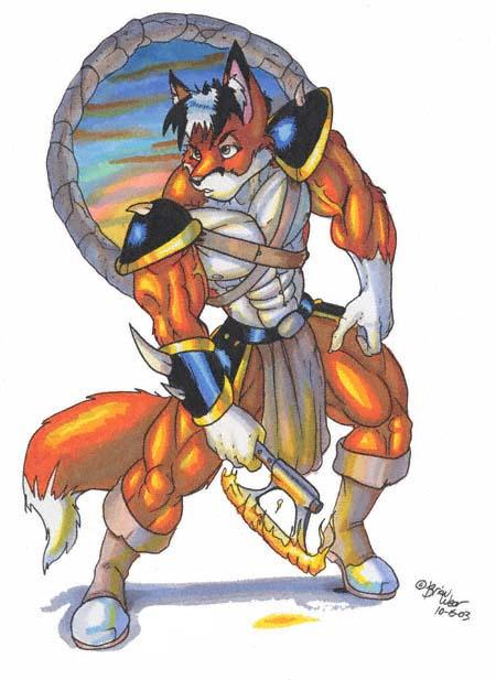 fox warrior by wolfgangcake on DeviantArt
