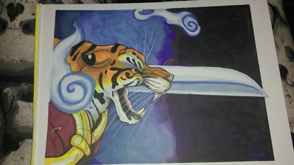 Tiger spirit warrior by wolfgangcake