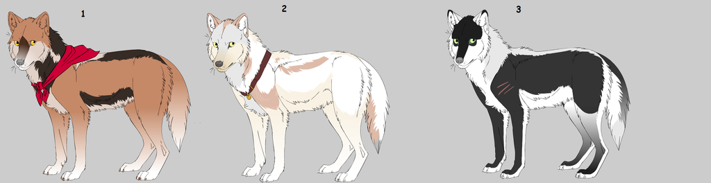 5 point Wolf Adopts  *CLOSED* by SweetZtea