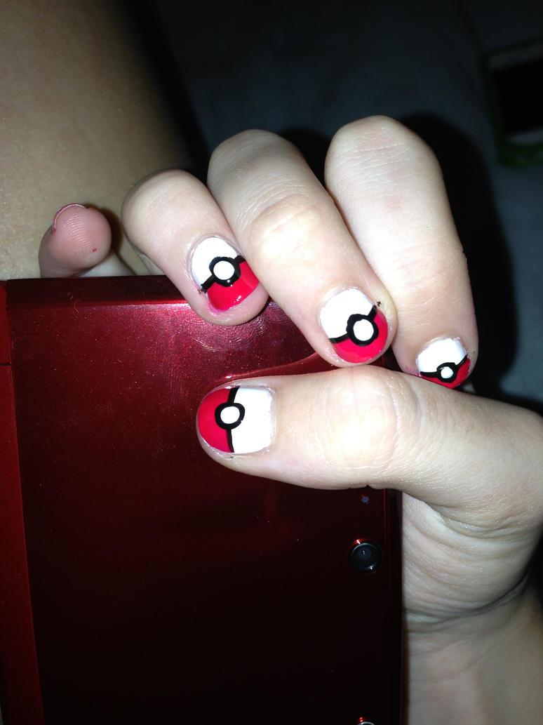 Pokemon nails by thefuff