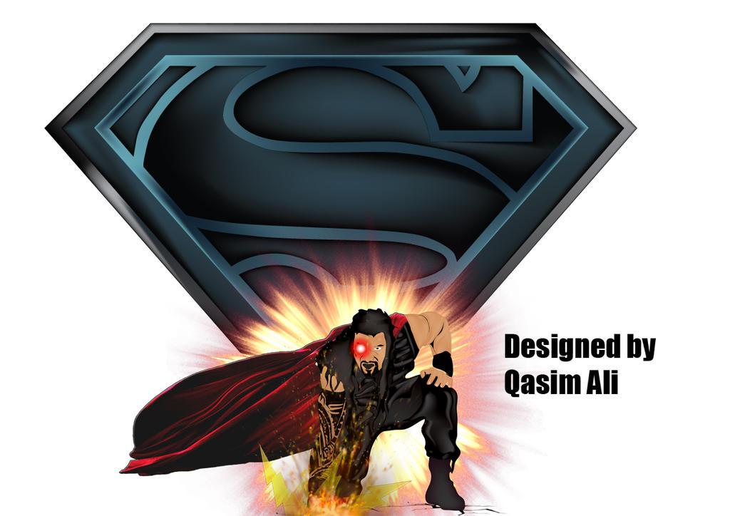 Roman Reigns And Superman Logo By Qasimali01 On Deviantart