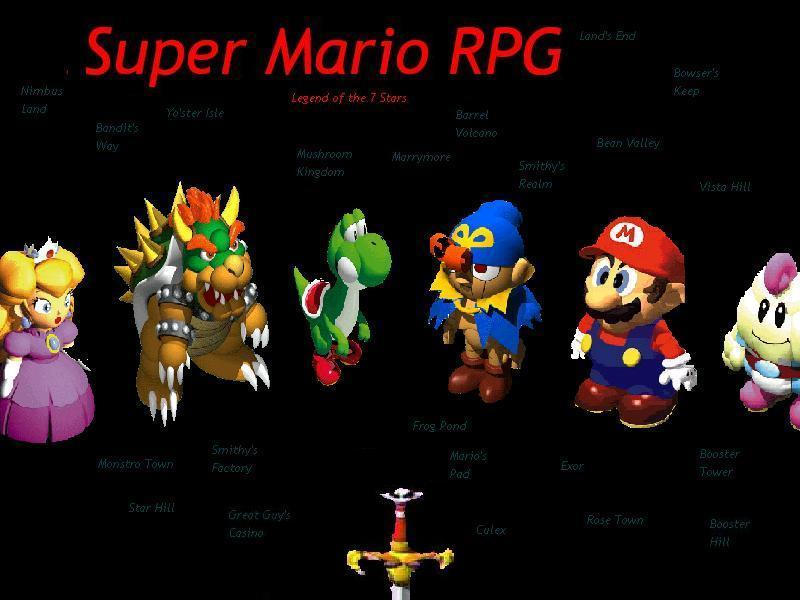 super mario wallpapers. Super Mario RPG Wallpaper by