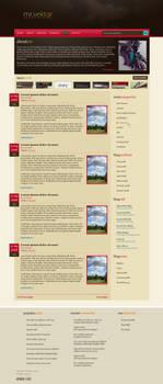 mr.vektor blog design