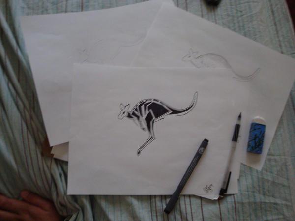 Kangaroo Tattoo by twosday