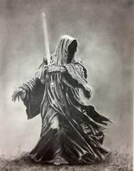 Nine for Mortal Men Doomed to Die - Graphite 11x14